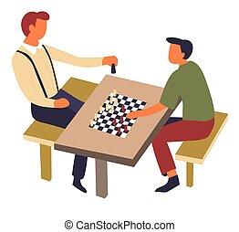 intellectuel, jeu, échecs, passe-temps, table, sport,...