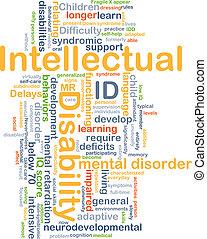 intellettuale, concetto, incapacità, id, fondo