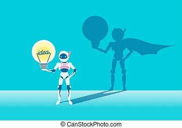 intelligence, artificiel, ampoule
