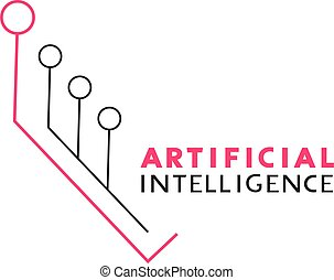 intelligence artificielle, ligne, symbole