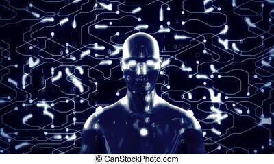 intelligence., avancé, artificiel