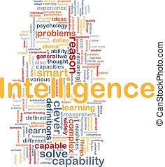 Intelligence background concept