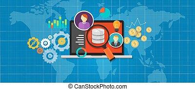 intelligence, business, analyse, base données