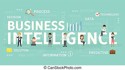 intelligence, concept., business