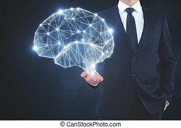 intelligence, concept, données, artificiel