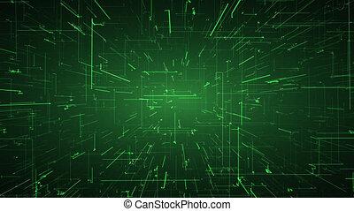 intelligence, concept., réalité virtuelle, connections., par, artificiel, naviguer, numérique