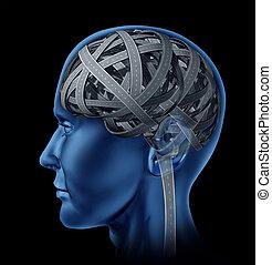 intelligence, confondu, humain