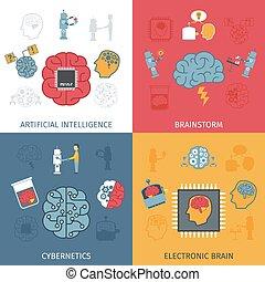 intelligence, ensemble, artificiel, plat