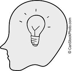 intelligence - Creative design of intelligence icon