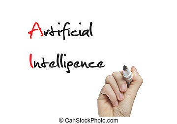 intelligence, main, artificiel, écriture