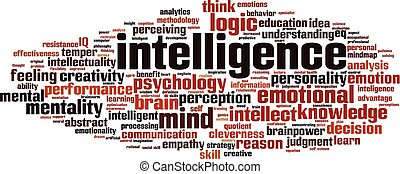 intelligence, mot, nuage