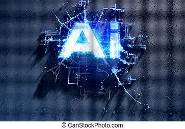 intelligence, pixel, artificiel