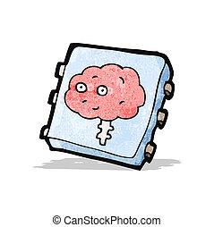 intelligence, puce, dessin animé, artificiel