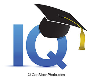 Intelligence quotient iq graduation tassel