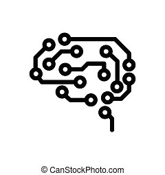 intelligence  thin line icon