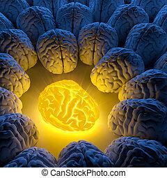 intelligence, unique, concept