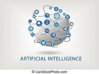 intelligence, vecteur, artificiel