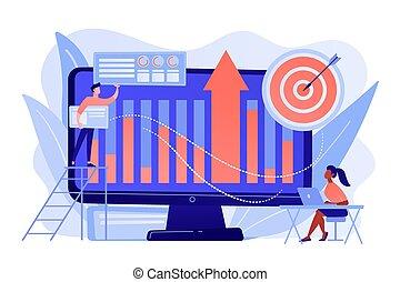 intelligence, vecteur, illustration., concept, business