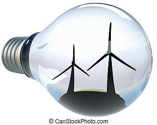 intelligent, écologique, énergie, consept