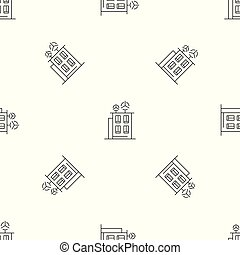 Intelligent building pattern seamless vector repeat...