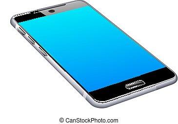 intelligent, cellule, téléphone portable, 3d