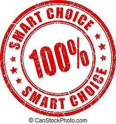 intelligent, choix, vecteur, timbre