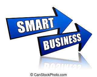 intelligent, flèches, business