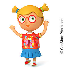 Girl intelligent peu illustration lev girl - Coloriage intelligent ...
