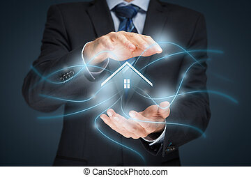 Intelligent house, smart home and home automation concept....