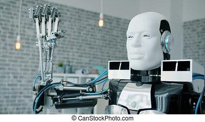 intelligent, machine, essai, robot, recherche, pendant,...