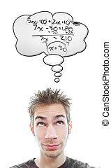 intelligent, math, étudiant