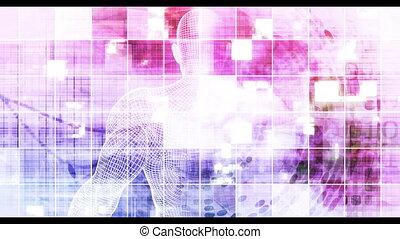 intelligent, résumé, technologie numérique, fond, conception