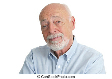 Intelligent Senior Man - A portrait of a handsome,...
