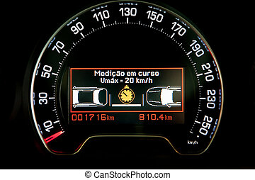 intelligent speed control technology indicator in dashboard