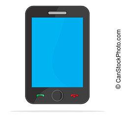 intelligent, téléphone, communication