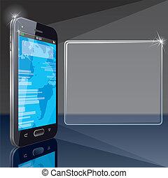 intelligent, téléphone, fond, conception