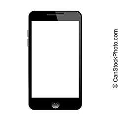 intelligent, téléphone, mobile