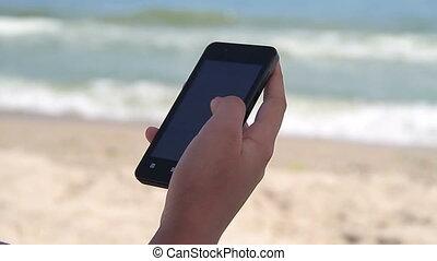 intelligent, téléphone, utilisation