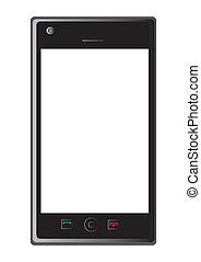 intelligent, téléphone, vecteur, mobile