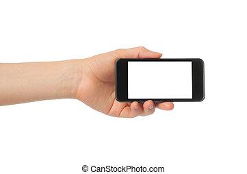 intelligent, tenant main, téléphone