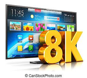intelligent, tv, ultra, 8k, hd