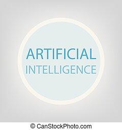 intelligentie, concept, kunstmatig