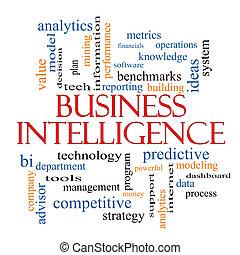 intelligentie, concept, woord, zakelijk, wolk