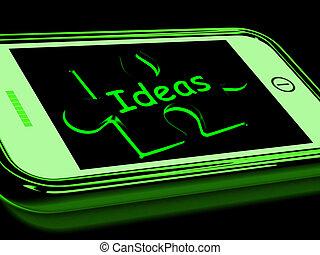 intelligentie, smartphone, ideeën, optredens