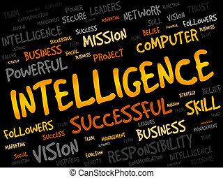intelligentie, woord, wolk