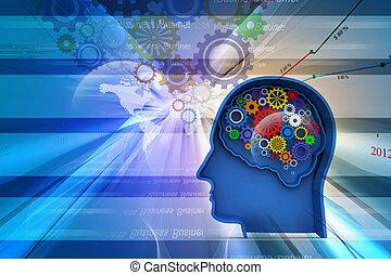 intelligenz, abstraktes konzept