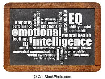 intelligenz, emotional, wort, wolke, (eq)