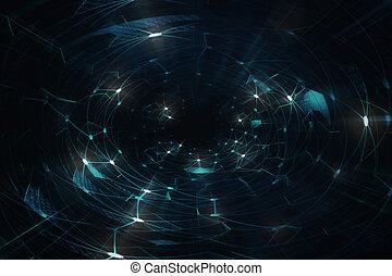 intelligenz, neural, vernetzung, /, künstlich