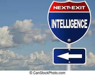 intelligenz, straße zeichen