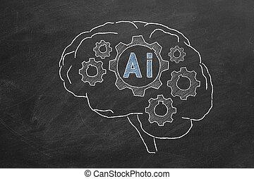 intelligenza, artificiale, concetto